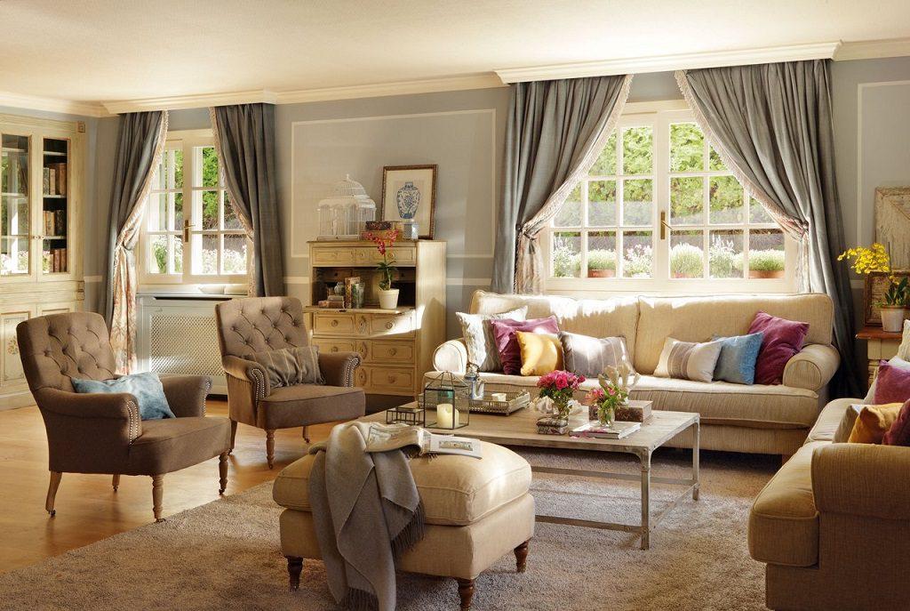 salon1 40 1024x687 - Elegancia clásica rodeada de jardín: una casa llena de detalles en Madrid