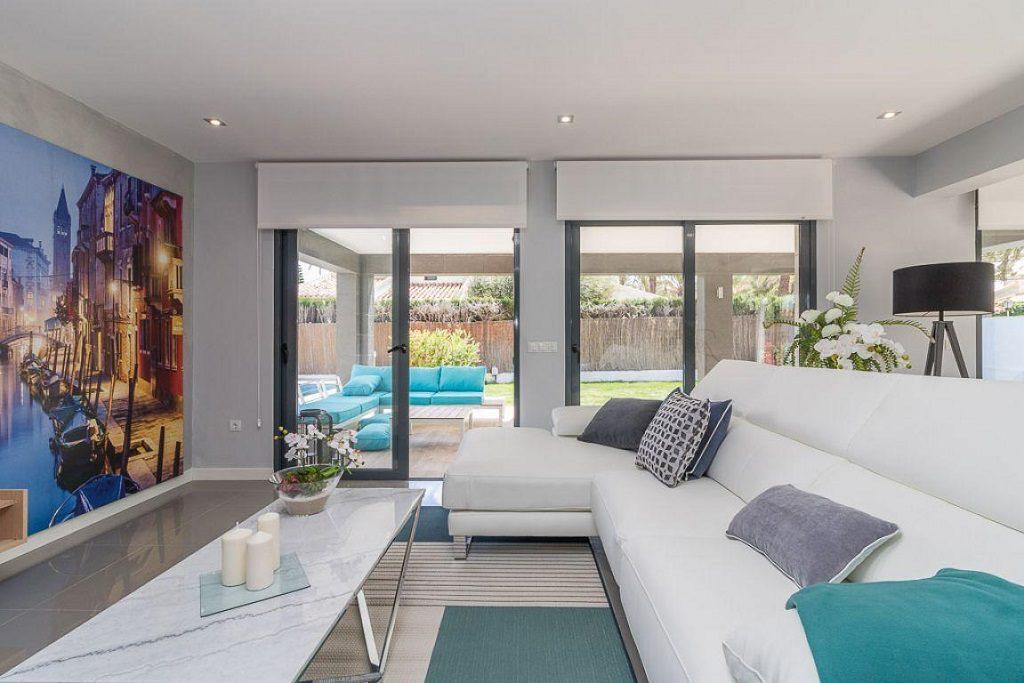 salon1 47 1024x683 - Preciosa casa de diseño en Orihuela Costa (Costa Blanca), en 2ª línea de playa