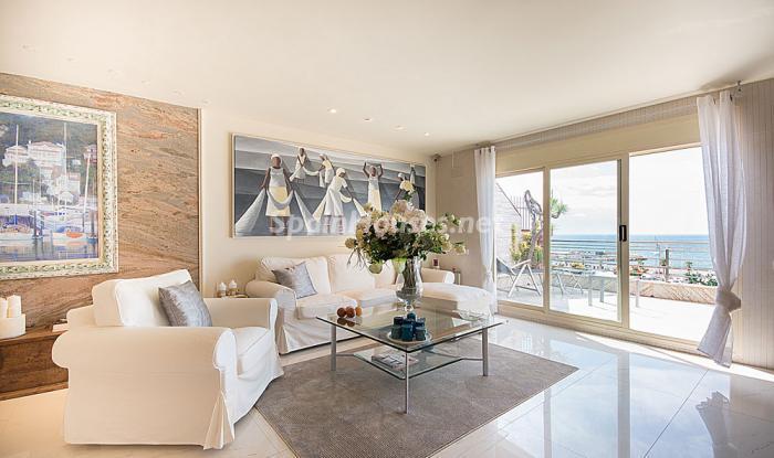 salon100 - Elegancia, espacio y luz en una fantástica casa en Port d'Aiguadolç, Sitges (Barcelona)