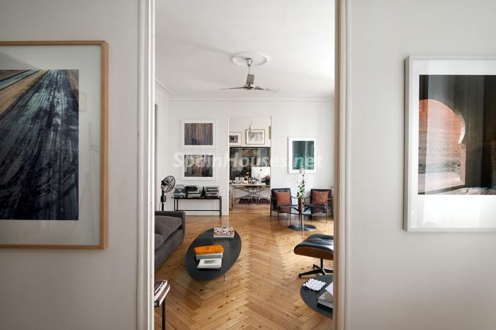 salon130 - Precioso piso lleno de amplitud y estilo en el centro de Madrid