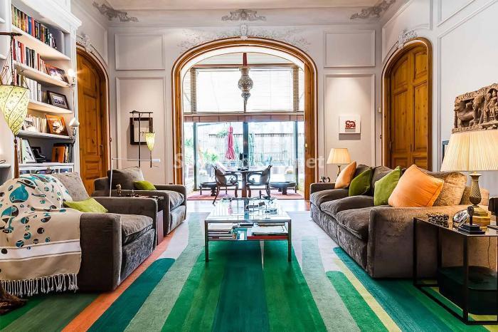 salon133 - Precioso piso lleno de detalles, elegancia y lujo en el Eixample de Barcelona