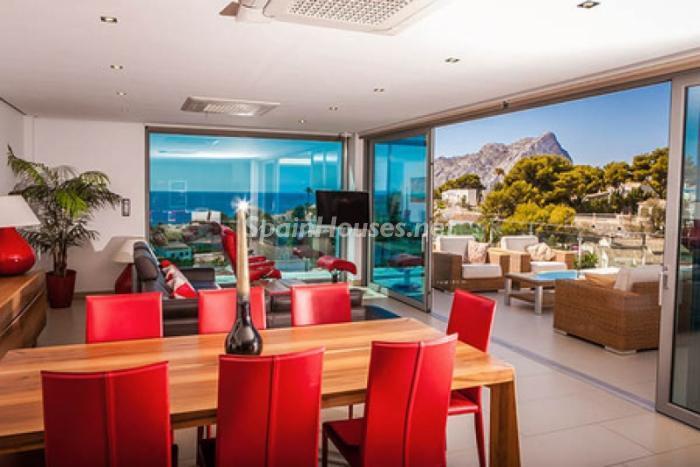 salon140 - Moderna villa con fantásticas vistas al mar en Les Basetes, Calpe (Costa Blanca)