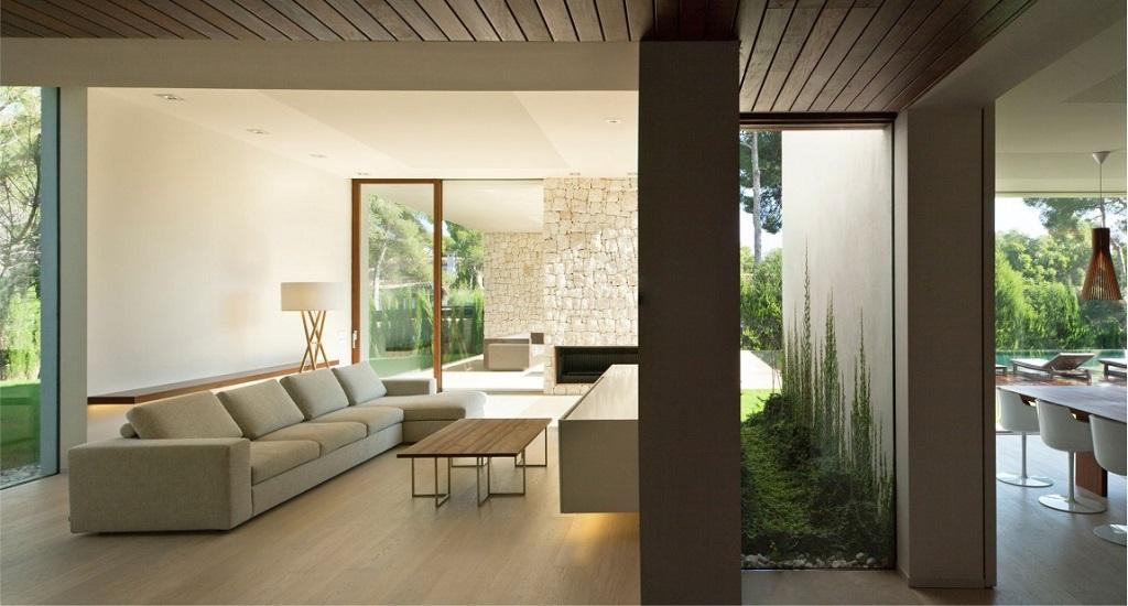 salon141 - Casa El Bosque (Chiva, Valencia): diseño moderno con distintos grados de intimidad