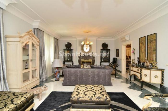 salon153 - Espectacular, lujoso y señorial apartamento en el barrio de Salamanca, Madrid