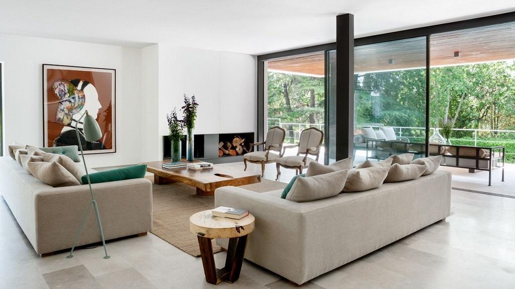 salon218 - Genial toque otoñal y minimalista en una fantástica casa en La Moraleja (Alcobendas, Madrid)