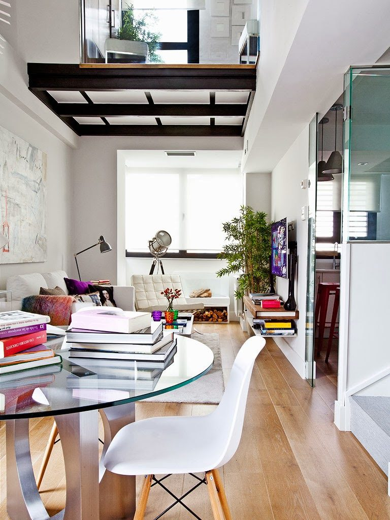 """salon3 8 768x1024 - Toque """"trendy"""" en Madrid, en un precioso loft cálido, femenino y moderno"""