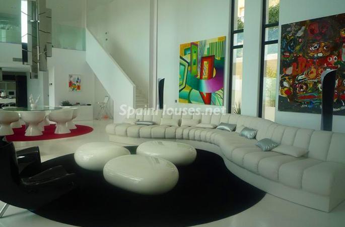 salon59 - Moderna y espectacular villa diseño en Es Cubells (San José, Ibiza)