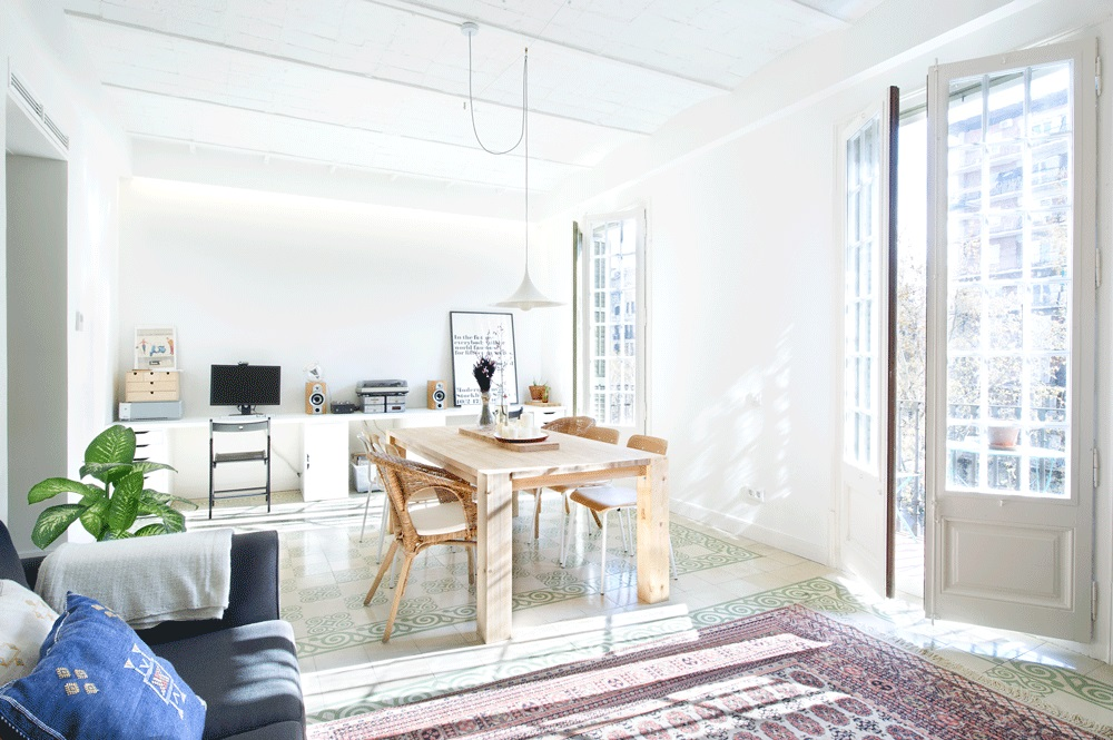 salon66 - 75 metros de elegante armonía, amplitud y luz en un apartamento de Barcelona