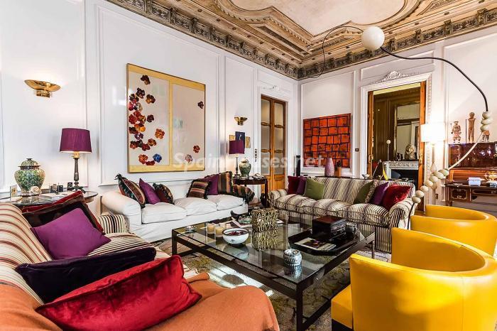 salon73 - Precioso piso lleno de detalles, elegancia y lujo en el Eixample de Barcelona