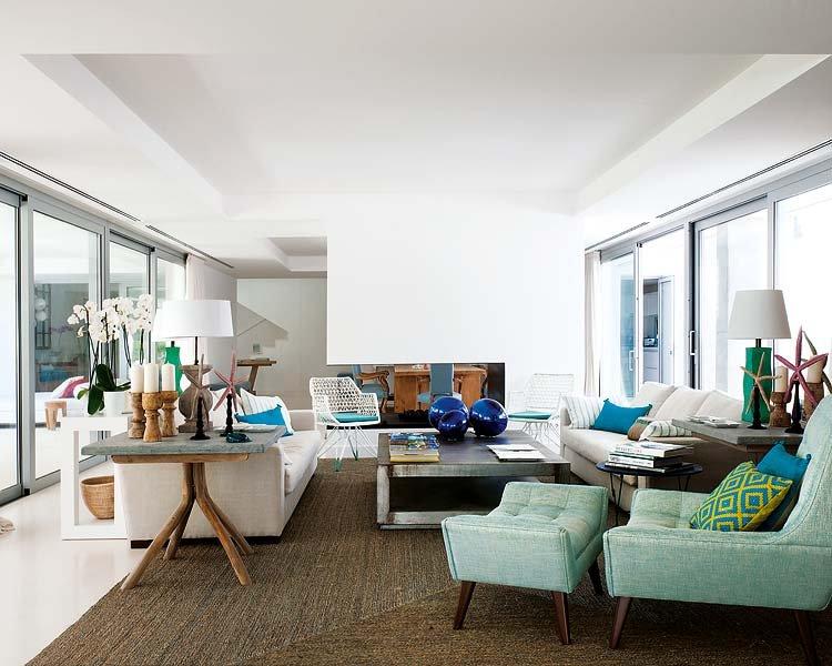 salon80 - Toques de azul turquesa en una genial casa en Sotogrande (Costa de la Luz, Cádiz)