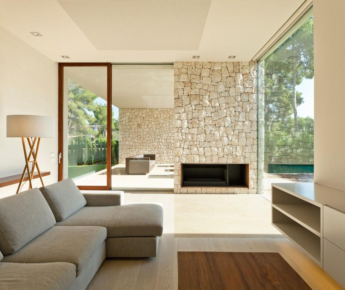 salon82 - Casa El Bosque (Chiva, Valencia): diseño moderno con distintos grados de intimidad