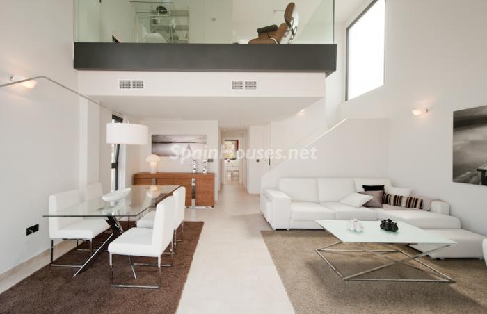 salon93 - Coqueto y moderno chalet de diseño en Santiago de la Ribera (Costa Cálida, Murcia)