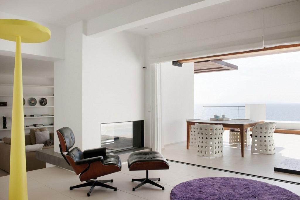 salon94 - Preciosa villa en Ibiza de espectacular y radiante blanco minimalista junto al mar