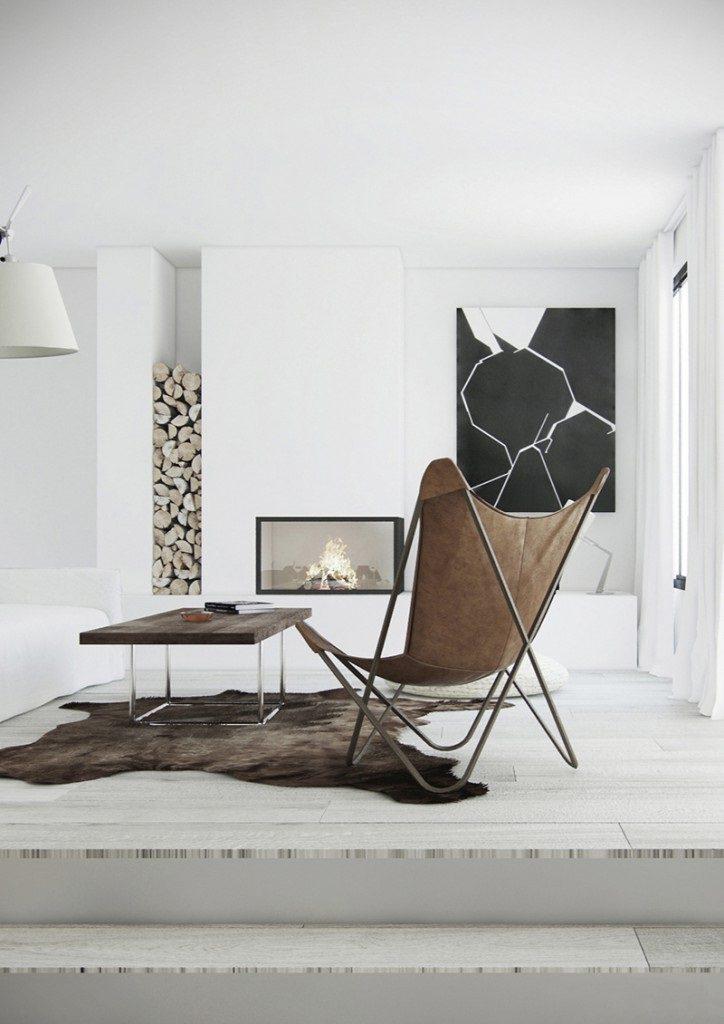 Diseño nórdico en blanco y negro en un cálido ático en Sant Gervasi, Barcelona