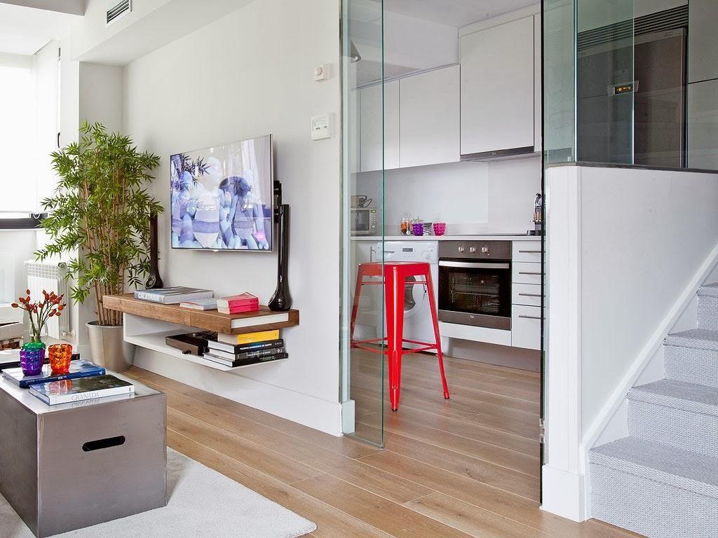"""salonycocina 1024x768 - Toque """"trendy"""" en Madrid, en un precioso loft cálido, femenino y moderno"""