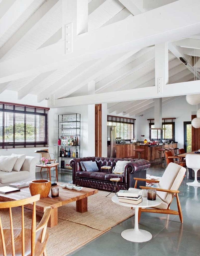 salonycocina - Esencia cálida en espacios diáfanos: la casa que soñó ser un loft en contacto con la naturaleza