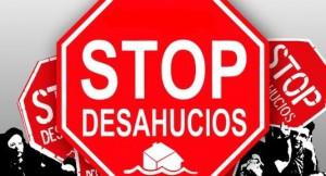 stop desahucios1 300x162 - Los desahucios de viviendas bajan un 12,9% en el mes de octubre