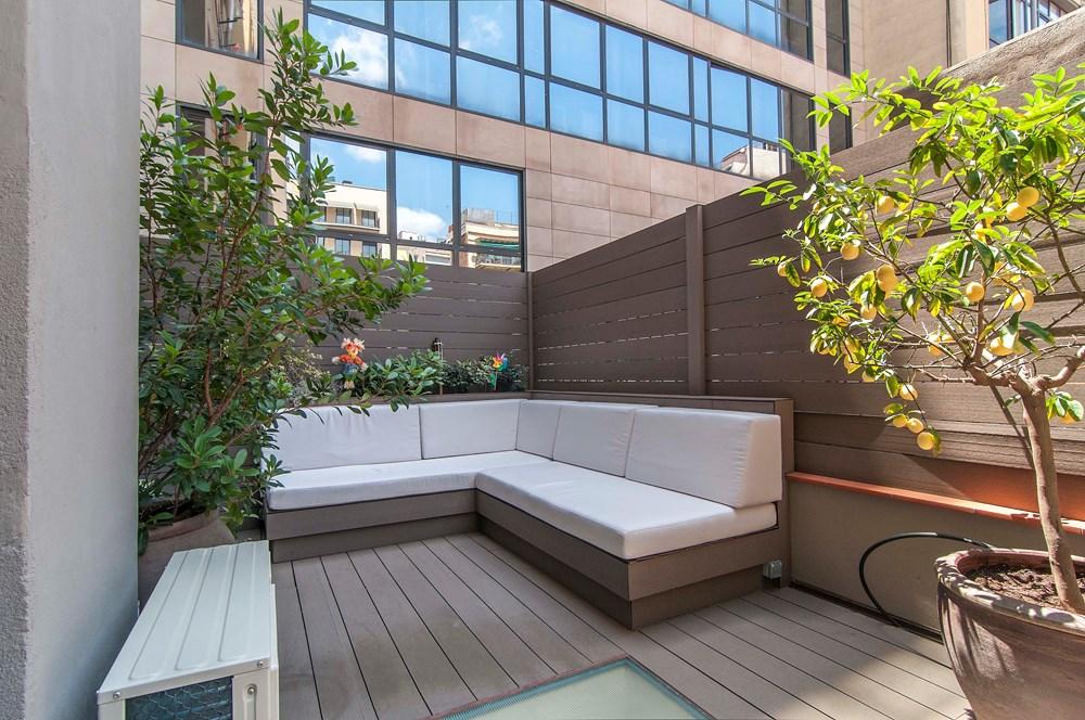 terraza 21 - Piso modernista en el Eixample (Barcelona): fusión espectacular de luz y elegancia