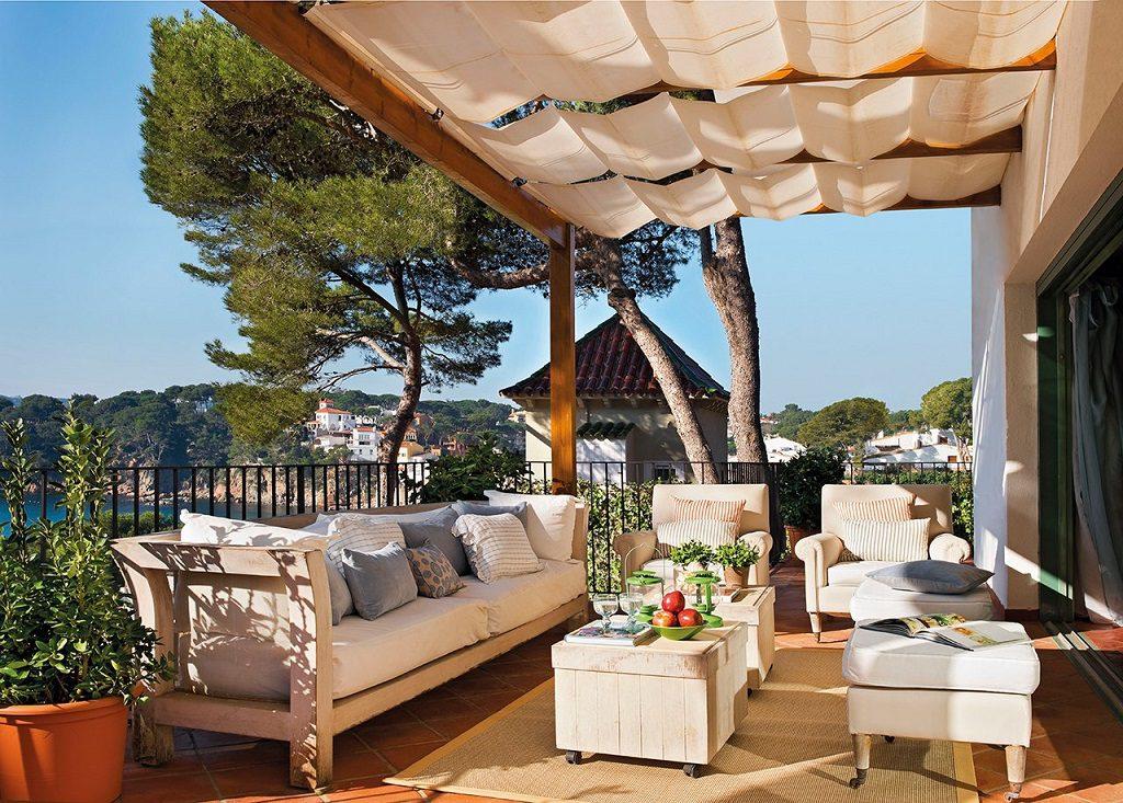 terraza 31 1024x733 - Cálida serenidad en perfecta armonía con el mar en Costa Brava (Girona)