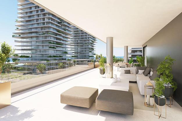 terraza 48 - Moderno apartamento en Málaga, primera línea de playa
