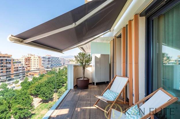 terraza alicante san juan - Espectacular piso en Alicante junto a la playa