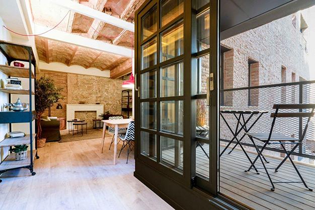 terraza barcelona raval - Moderno apartamento en el centro de Barcelona para los que buscan un estilo único