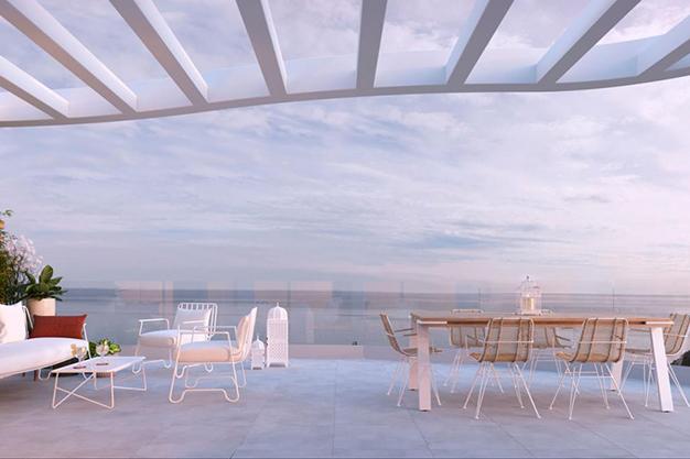terraza con vistas al mar inmueble costa del sol - Lujoso apartamento en la Costa del Sol para comenzar una nueva vida