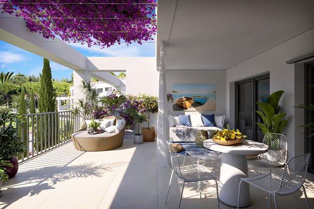 terraza mallorca 1 - Oportunidad única: exclusivo apartamento en Mallorca a 500 metros de la playa