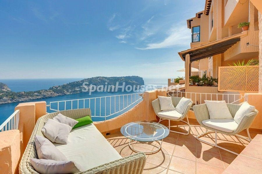 terraza vistas 2 - Terraza de sol y geniales vistas al mar en Puerto de Andratx, Mallorca (Baleares)