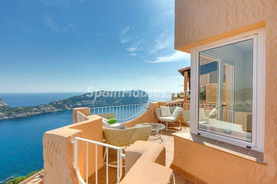 terraza vistas2 - Terraza de sol y geniales vistas al mar en Puerto de Andratx, Mallorca (Baleares)