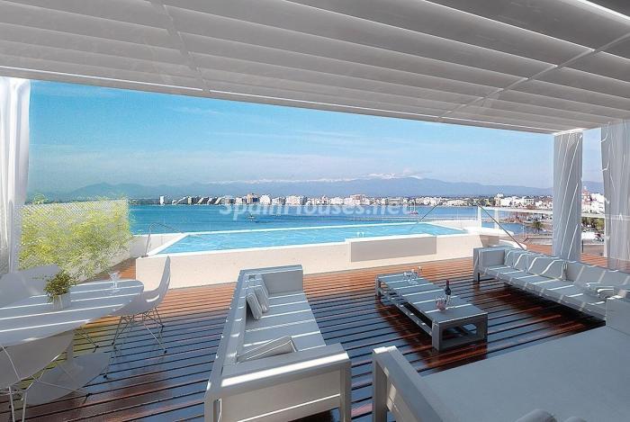 terraza115 - Fantástico ático frente a la playa y el puerto deportivo de Roses, Costa Brava