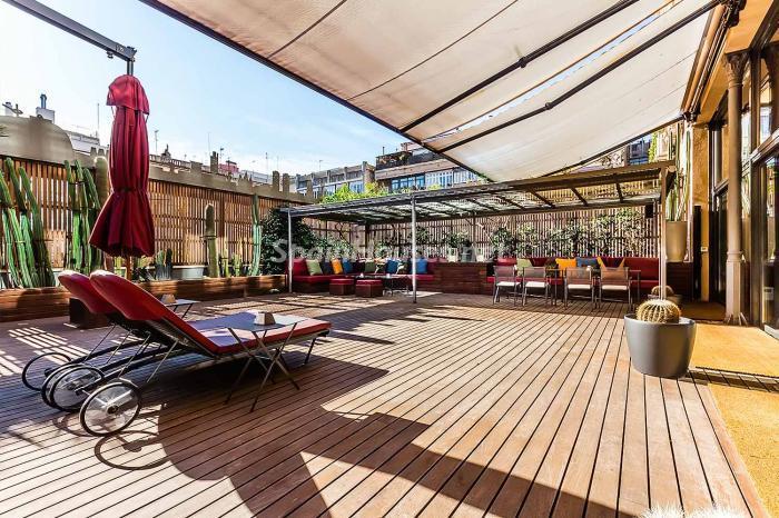 terraza120 - Precioso piso lleno de detalles, elegancia y lujo en el Eixample de Barcelona