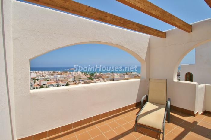 terraza130 - Gran chalet de 6 dormitorios con vistas a la Isla de San Andrés, Carboneras (Almería)