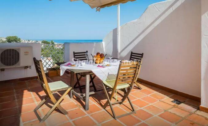 terraza131 - Luz, sol y mar en un precioso chalet en alquiler en Benajarafe (Costa del Sol, Málaga)