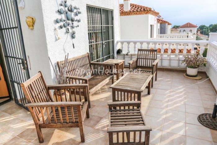terraza132 - Una casa coqueta, navideña y confortable en Miami Playa (Costa Dorada, Tarragona)