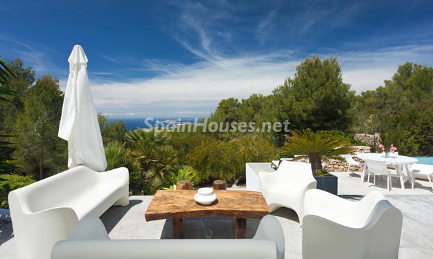 terraza14 - Casa de la Semana: Preciosa villa de estilo minimalista en Ibiza, Islas Baleares