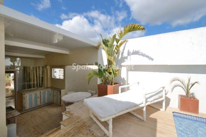 terraza19 - Casa de la Semana: Precioso ático de lujo en Marina Botafoch, Ibiza