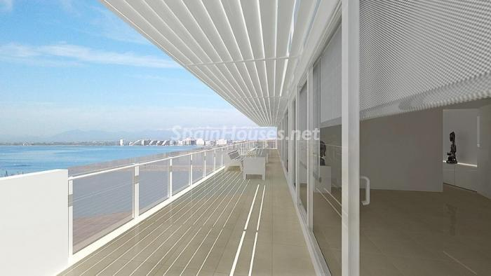 terraza210 - Fantástico ático frente a la playa y el puerto deportivo de Roses, Costa Brava