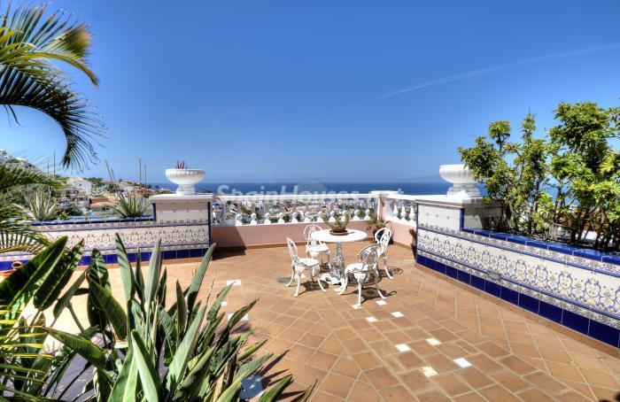terraza30 - Bonita casa con encanto y estupendas vistas al mar en Costa Adeje, Tenerife (Islas Canarias)