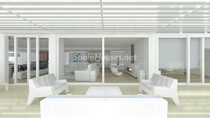 Terraza y salón