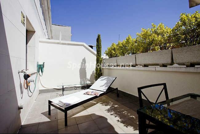 terraza40 - Elegante y acogedor ático en alquiler en el barrio de Salamanca, Madrid