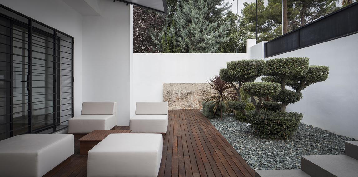 terraza44 - Precioso chalet de estilo nórdico en El Vedat de Torrent, Valencia