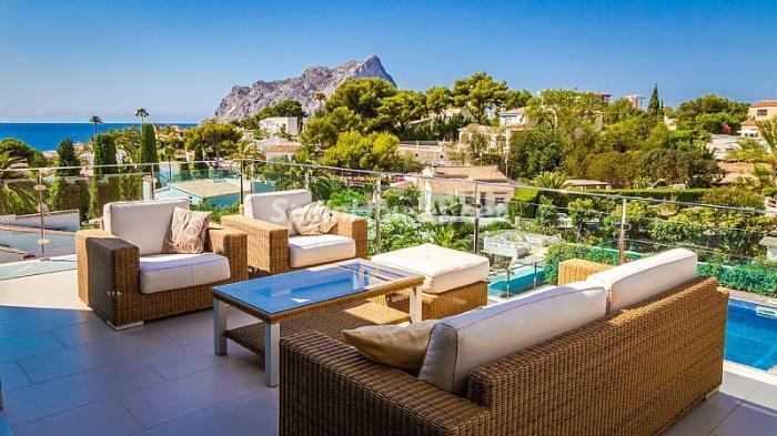 terraza53 - Moderna villa con fantásticas vistas al mar en Les Basetes, Calpe (Costa Blanca)