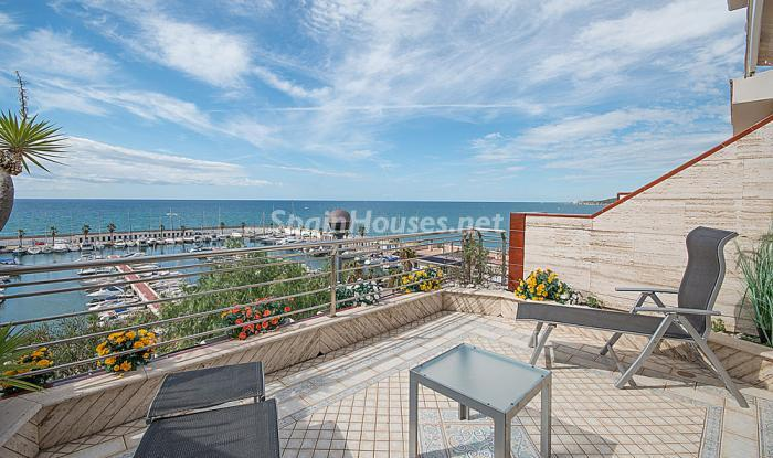 terraza64 - Elegancia, espacio y luz en una fantástica casa en Port d'Aiguadolç, Sitges (Barcelona)