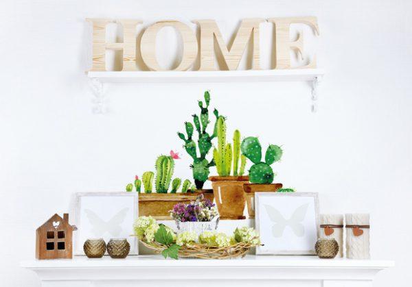 vinilo cactus de tenvinilo 600x419 - Decoración: Ideas para decorar con vinilos