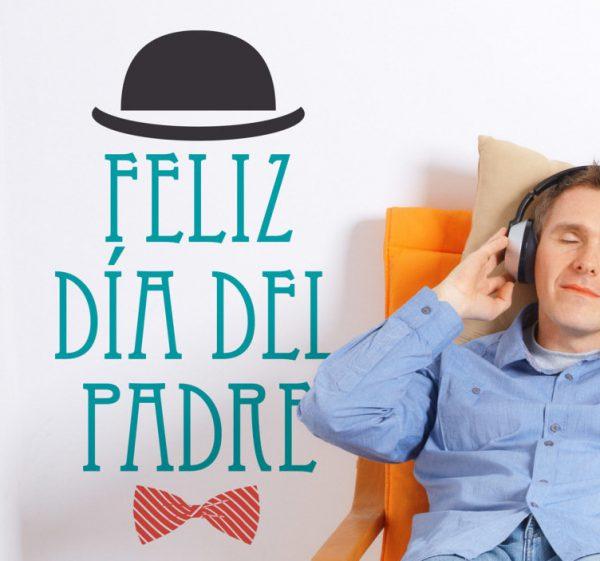 vinilo decorativo feliz dia del padre 5191 600x561 - La ideas decorativas más originales para el día del padre