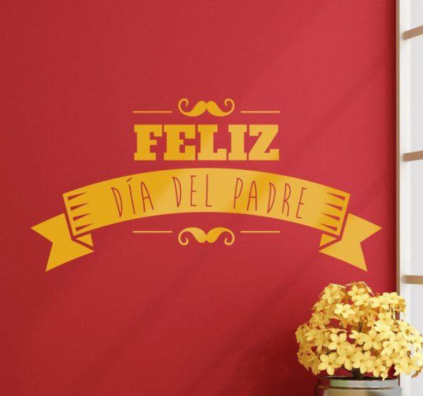 vinilo decorativo retro feliz dia padre 8321 600x561 - La ideas decorativas más originales para el día del padre
