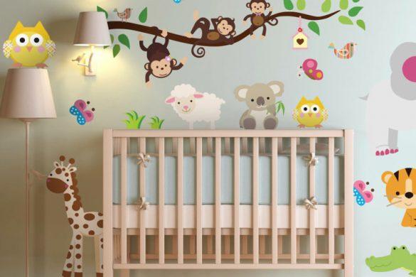 vinilo infantil sticker selva 3638 585x390 - Decoración: Ideas para decorar con vinilos