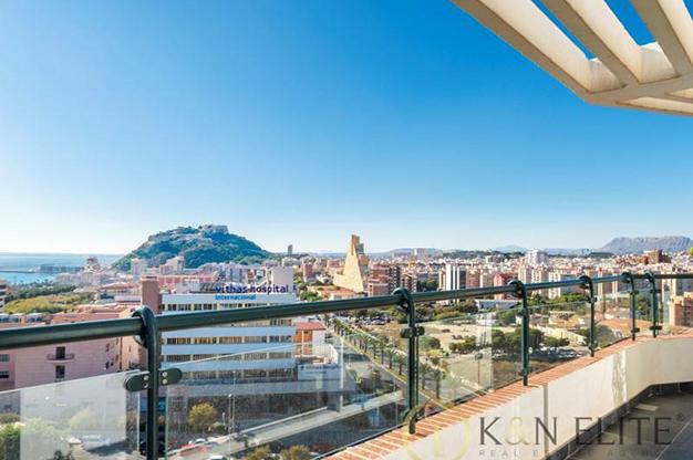 vistas atico cerca de la playa en Alicante - Espectacular ático cerca de la playa en Alicante: mar y montaña al alcance de tus ojos