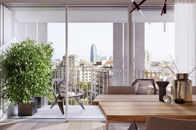 vistas piso lujo barcelona - Este apartamento de lujo en Barcelona lo tiene todo: amplitud, ambientes modernos y terraza privada
